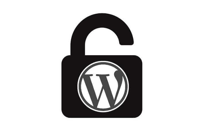 logotipo wordpress candado