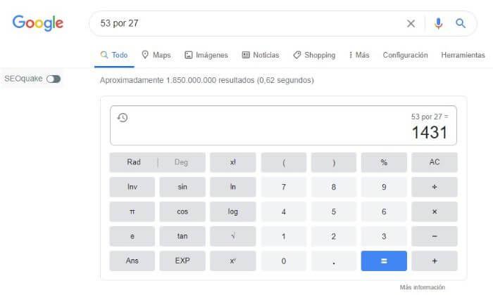 snippet calculadora google