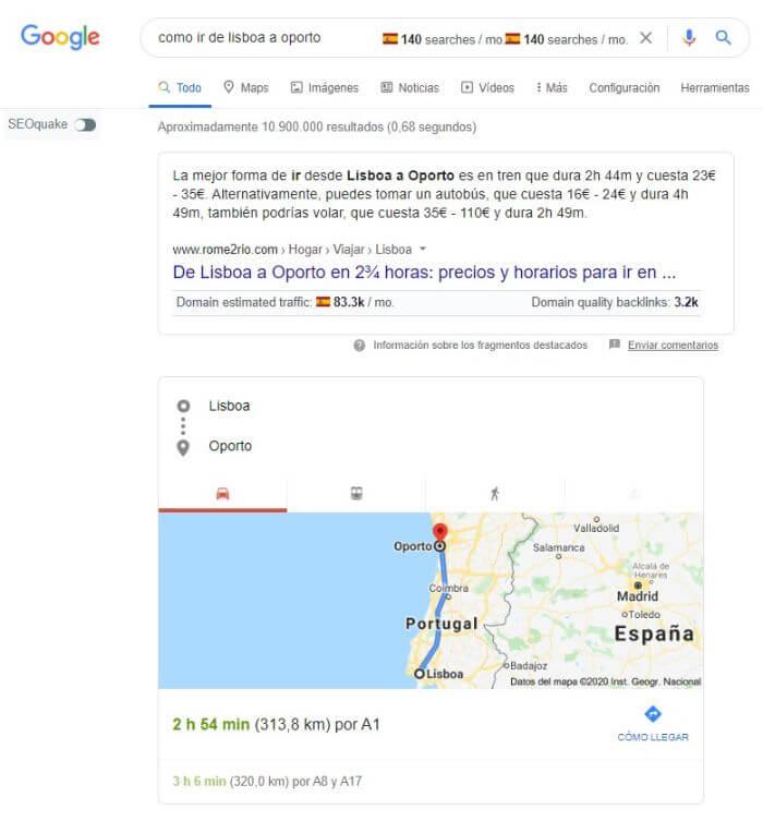 snippet desplazamiento google maps